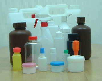 プラスチック容器各種の図